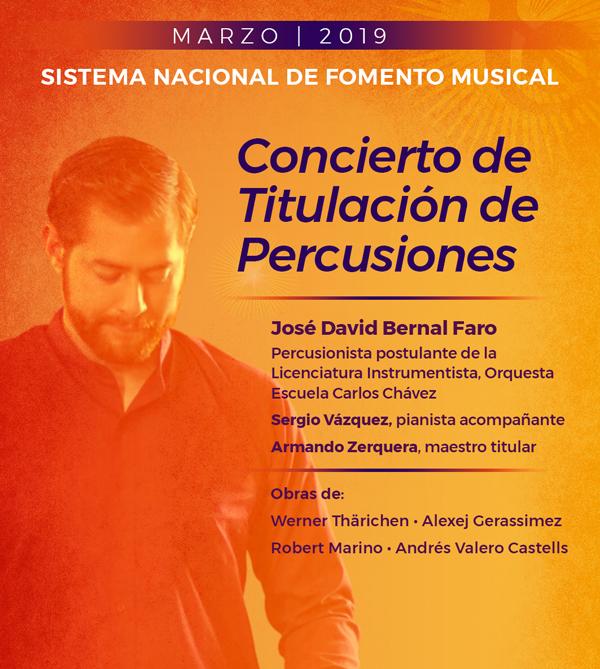 Examen de Titulación de Percusiones  de la Orquesta Escuela Carlos Chávez