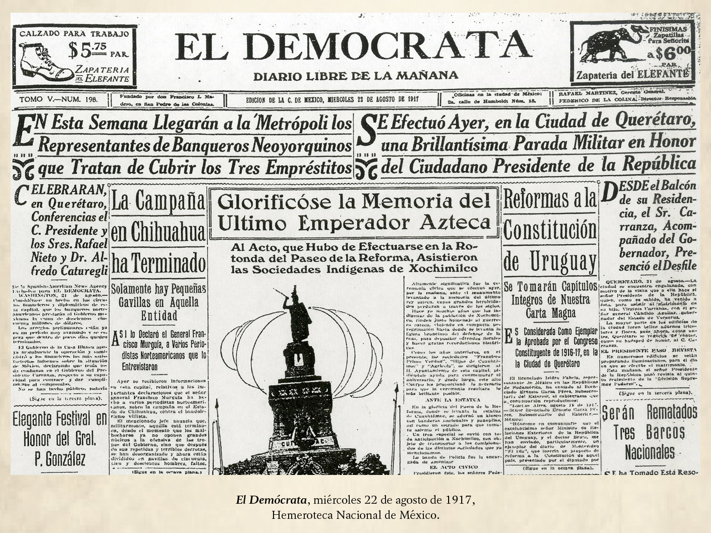 august 21st 1917 it is proposed that the constitution of uruguay