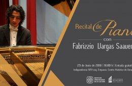 Recital de piano con Fabrizzio Vargas Saavedra