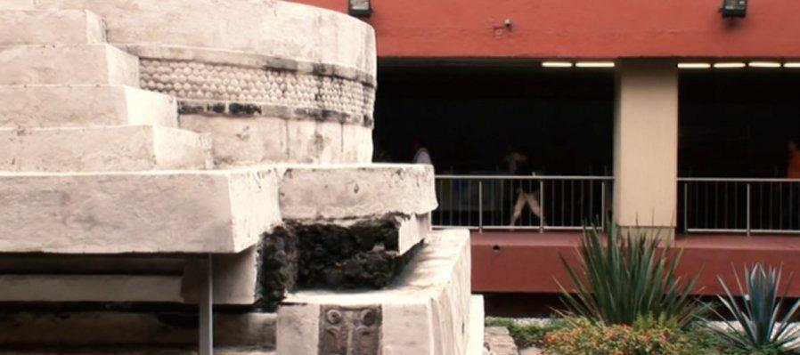 El México antiguo en las ciudades. Templo de Ehécatl, Metro Pino Suárez