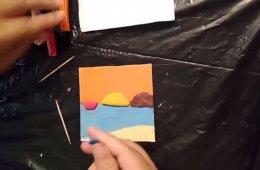 Plastilina con Imelda: una playa de plastilina