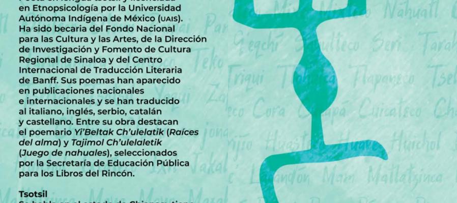 Cartografía poética. Poema de Enriqueta Lunez en lengua tsotsil