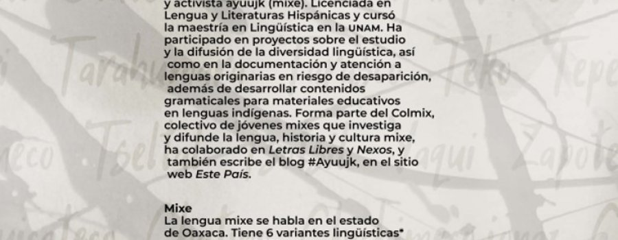Cartografía poética. Poema de Yásnaya Elena Aguilar en lengua mixe