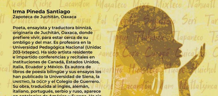 Cartografía poética. Poema de Irma Pineda en lengua zapoteca