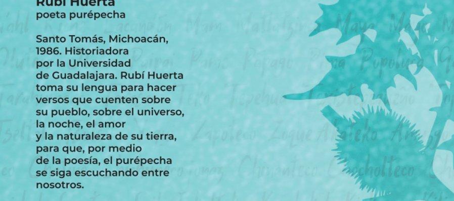 Cartografía poética. Poema de Rubí Huerta en lengua purépecha