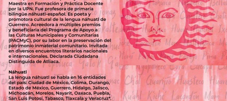 Cartografía poética. Poema de Yolanda Matías García en lengua nahua