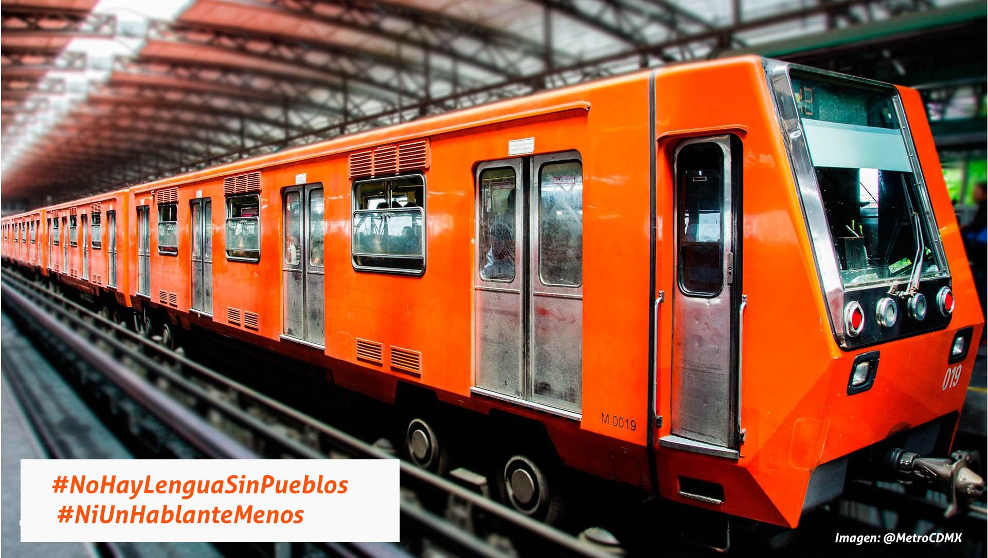 Las Lenguas Mexicanas viajan en el metro de la CDMX