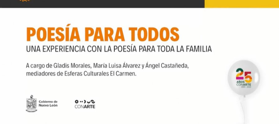 Poesía para todos con la Esfera Cultura El Carmen