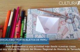 Portaobjetos de papel