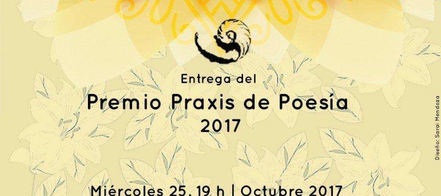 Entrega del Premio Praxis de Poesía 2017