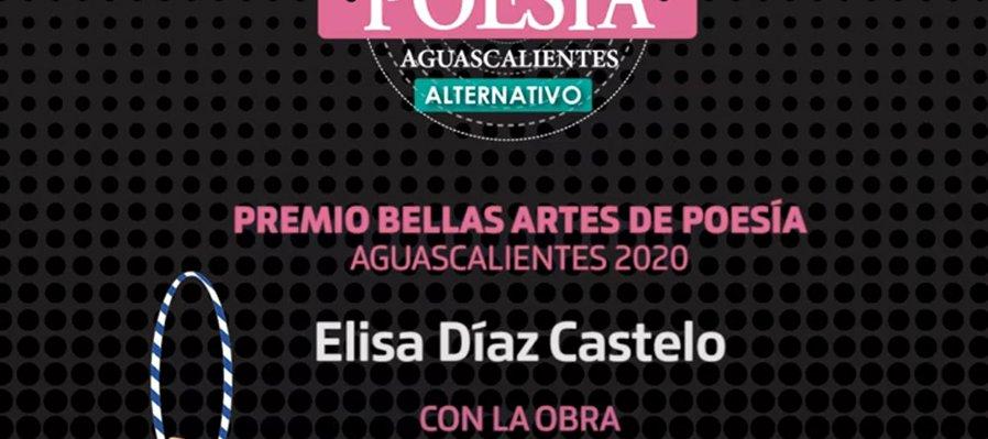 Premio Bellas Artes de Poesía Aguascalientes 2020
