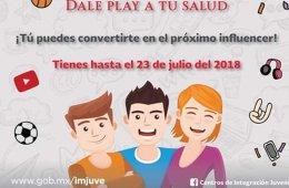 Concurso Nacional PrevenTubers: Dale play a tu salud