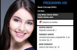 Daniela Liebman con la Orquesta Filarmónica de Boca del ...