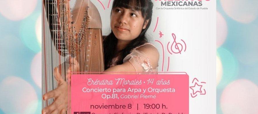 Eréndira Morales, arpista