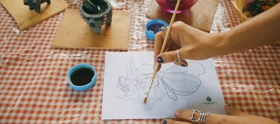 Taller Pintando con la naturaleza