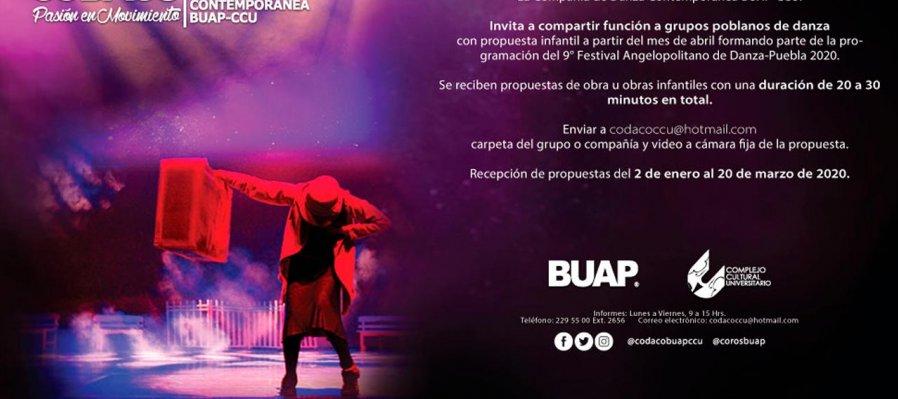 Invitación a grupos poblanos de danza con propuesta infantil