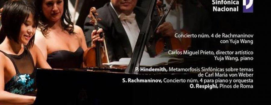 Orquesta Sinfónica Nacional. Concierto núm. 4 de Rachmaninov con Yuja Wang