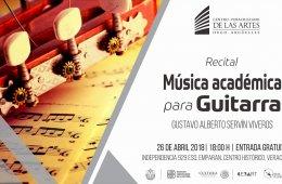 Recital de música académica para guitarra