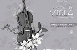 Recital del viola de la Orquesta Escuela Carlos Chávez
