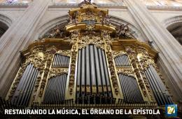 Restaurando la música, el órgano de la Epístola