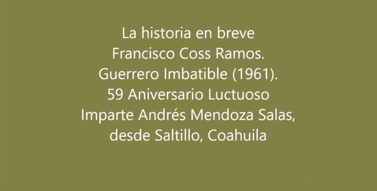 La historia de Francisco Coss Ramos. Ballet