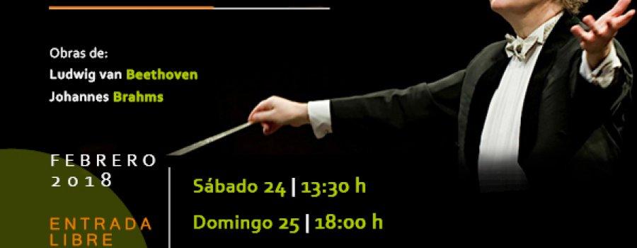 Beethoven y Brahms. Orquesta Escuela Carlos Chávez