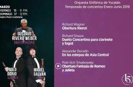 Paolo Dorio y Miguel Galván con la Orquesta Sinfónica d...