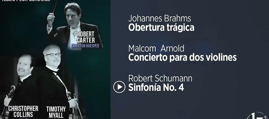 Christopher Collins y Timothy Myall con la Orquesta Sinfónica de Yucatán