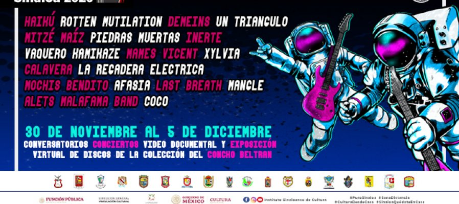 Conversatorio sobre la Historia del Rock en Culiacán y presentación del video documental y exposición virtual sobre Concho Beltrán