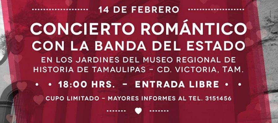 Concierto romántico con la Banda del Estado de Tamaulipas