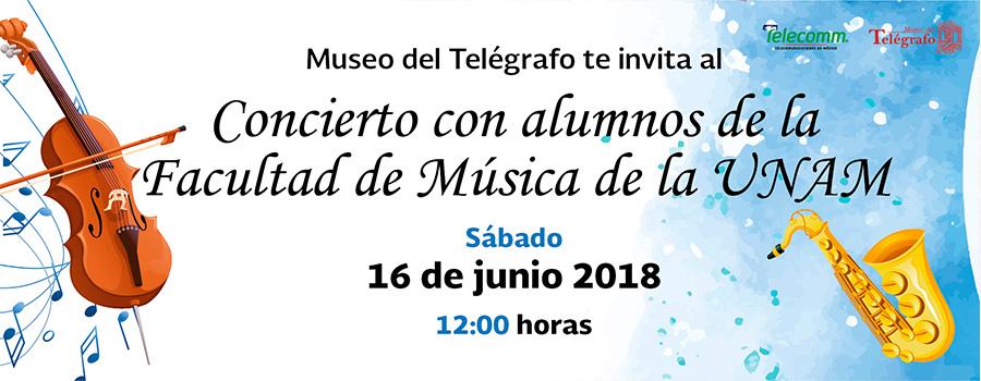 Concierto con alumnos de la Facultad de Música de la UNAM