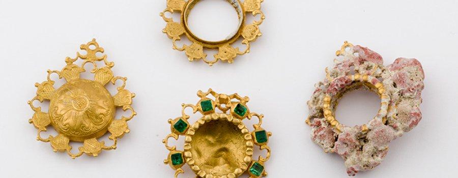 Conoce la sala con la colección de objeto preciosos del Museo de Arqueología Subacuática Fuerte de San José el Alto