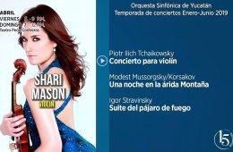 Shari Mason con la Orquesta Sinfónica de Yucatán