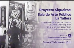 Fragmento de video que muestra a David Alfaro Siqueiros e...
