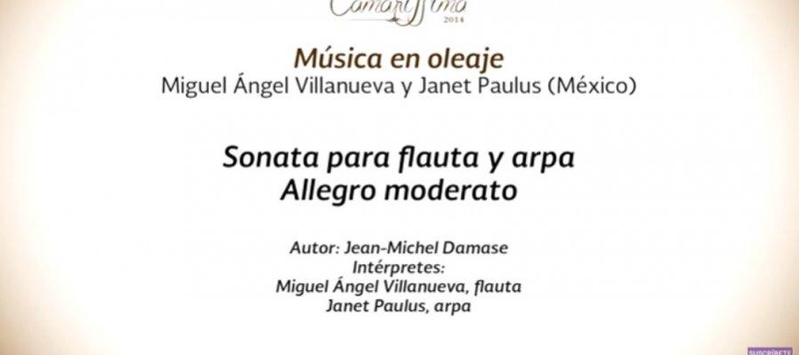 Conciertos guiados. Música para arpa y flauta de Jean-Michel Damase y Camille Saint-Saëns