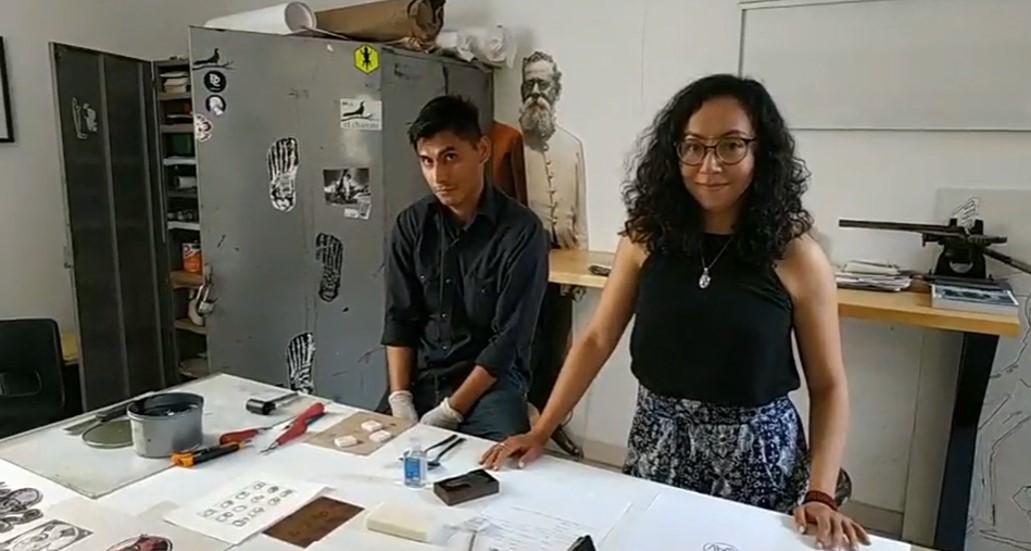 Taller de grabado en el Museo de Artes Gráficas