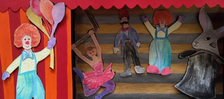 Taller virtual teatro de papel para niñas y niños