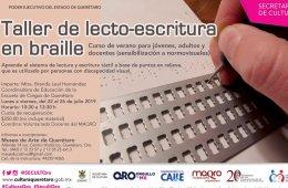 Taller de lecto-escritura en braille