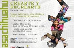 Taller Crearte y Recrearte Verano 2018