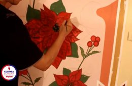 Taller pintura mural en interiores
