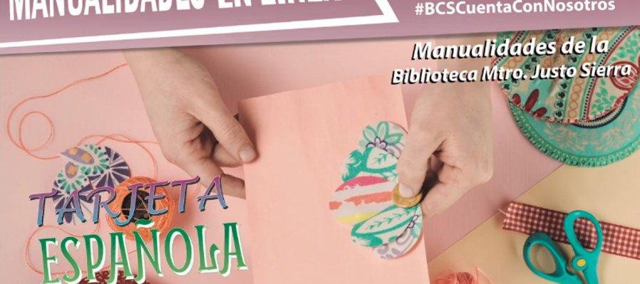Manualidades en línea: tarjeta española