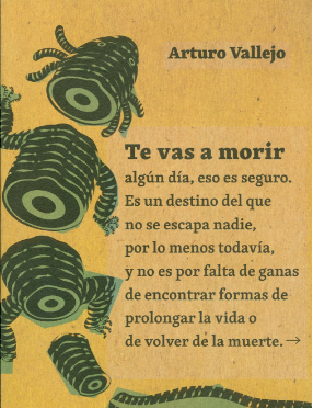 """Resultado de imagen para Te vas a morir"""": De Arturo Vallejo"""