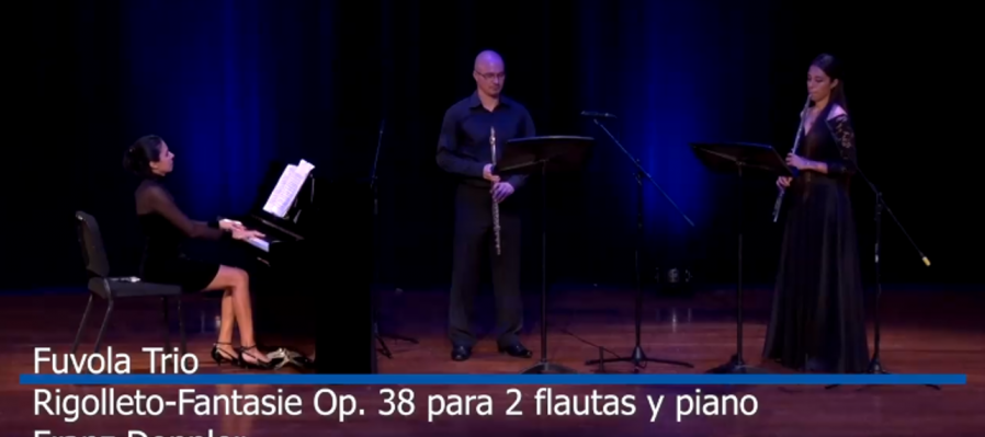 Virtuosos y Virtuales: músicos de la OSSLA en línea. Fuvola Trío con obras de Doppler