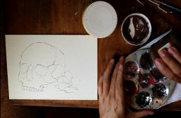 Técnicas de pintura con Alaíde R. Martínez