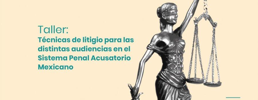 Taller de técnicas de litigio para las distintas audiencias en el Sistema Penal Acusatorio Mexicano