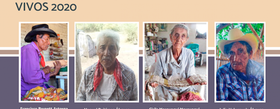 Cirila Moroyoqui, tejedora telar de piso tradicional Yoreme-Mayo
