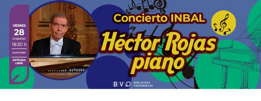 Héctor Rojas al piano
