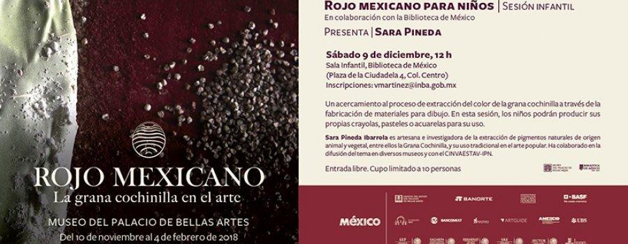 Rojo mexicano para niños