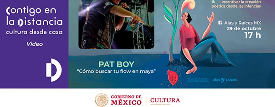 Tiempo de Sembrar Poesía. Ciclo de Talleres en Línea. Cómo buscar tu flow en maya. Pat Boy
