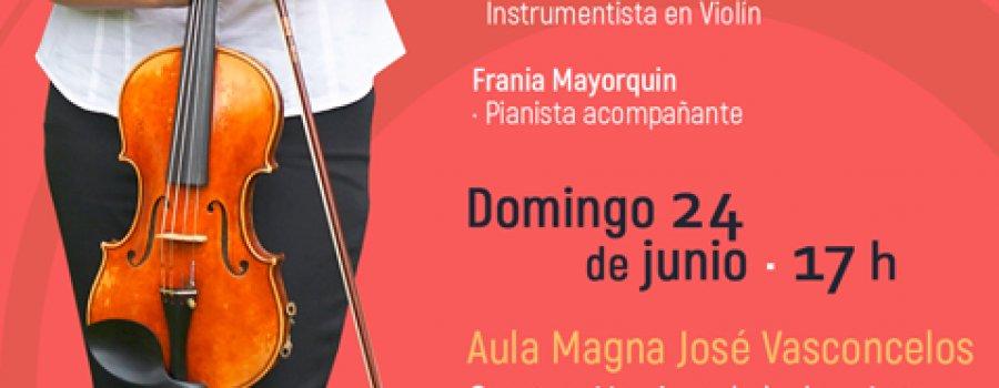 Examen de titulación en Violín l Orquesta Escuela Carlos Chávez